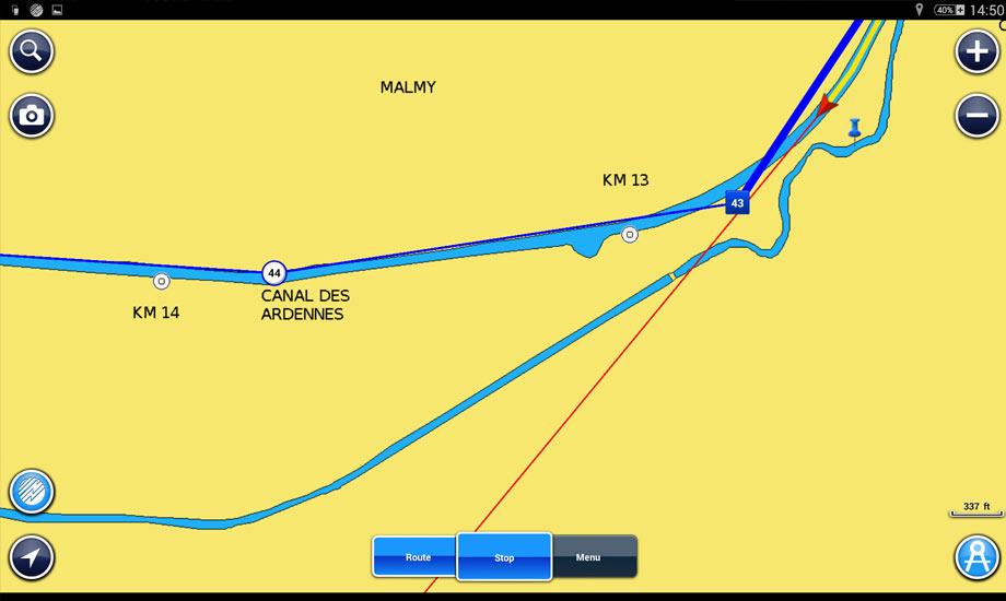 kanalveien til middelhavet slusing