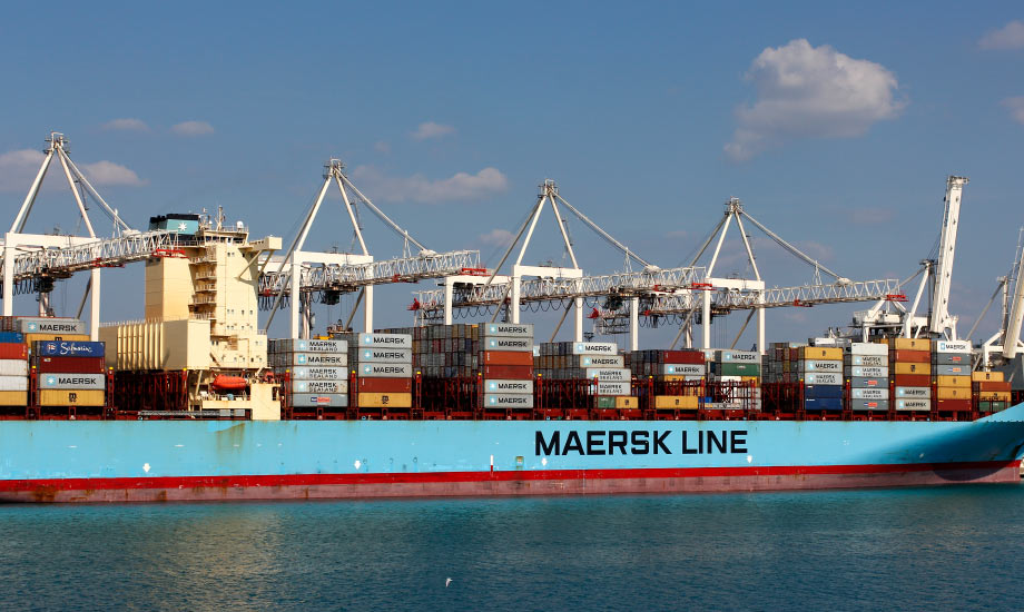 Den store containerhavnen i Koper